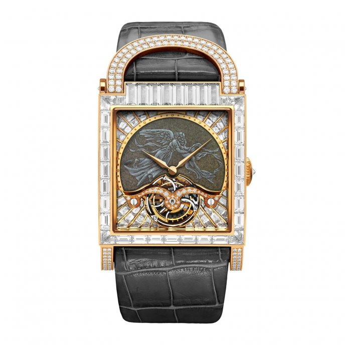 DeLaneau Dôme Tourbillon Ange watch-face-view