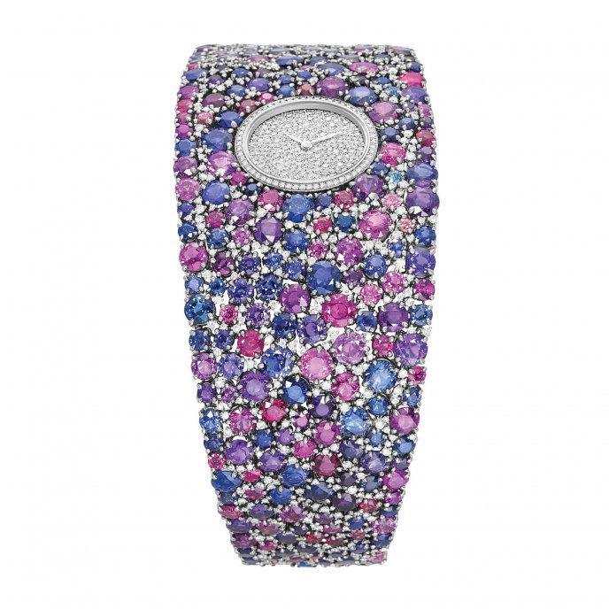 Delaneau Grace Sapphires Watch-face-view