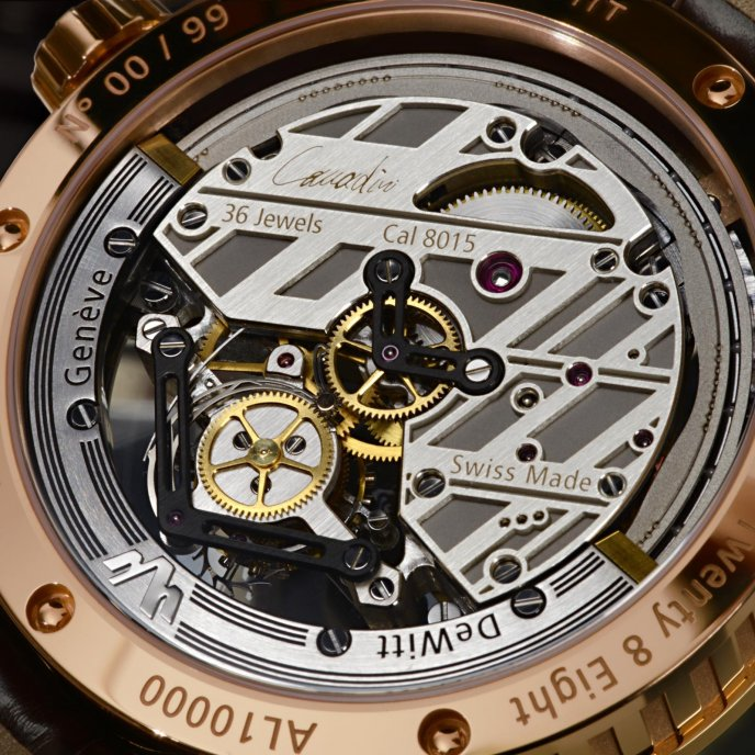 DeWitt Twenty-8-Eight Tourbillon Prestige T8.TP.001 - watch back view