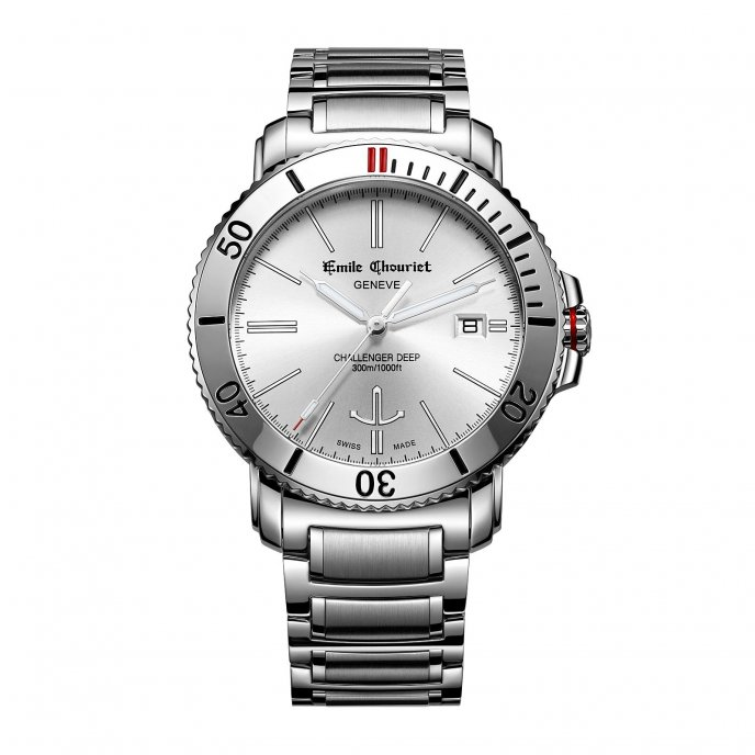 Emile Chouriet Challenger Deep White Watch-face-view