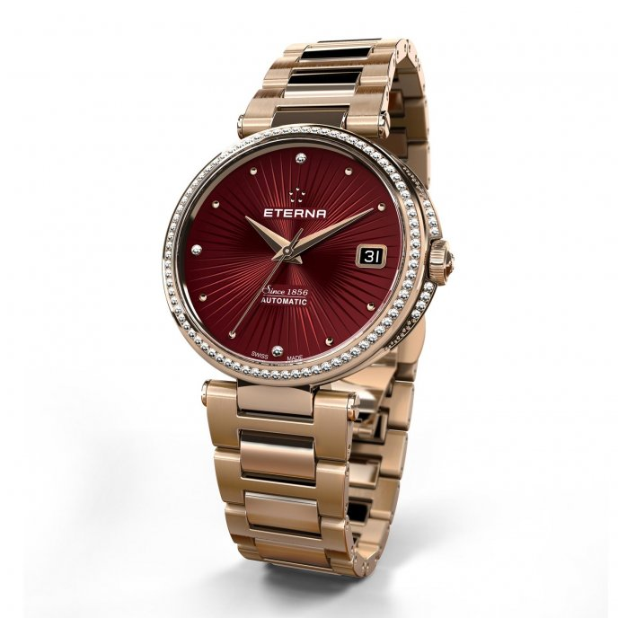Eterna Grace Three Hands Or Rose 2944.75.79.0502 Watch-face-view