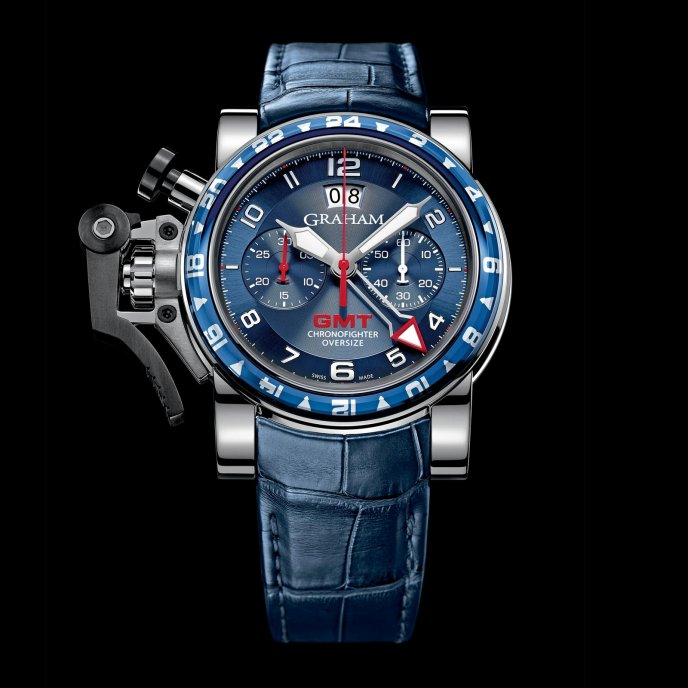 Graham Chronofighter Oversize GMT 2OVGS.U06A - watch face view