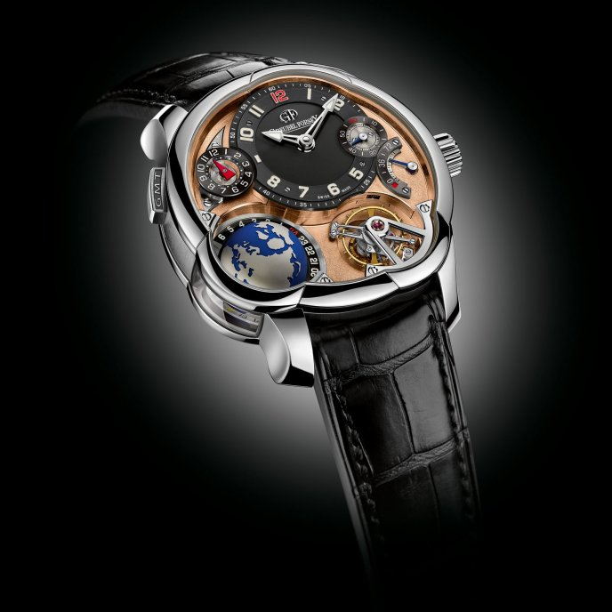 Greubel Forsey GMT Mouvement 5 N 22 Pièces Platine Watch Face View