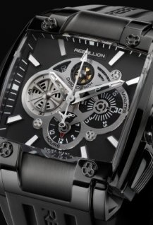 RE-1 Chronograph Black steel DLC
