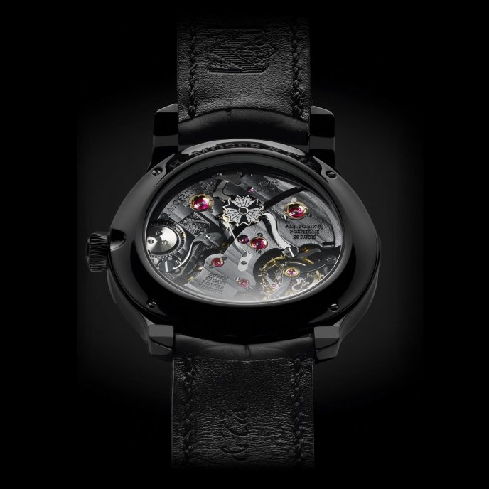 H. Moser & Cie Perpetual Calendar Black Edition 341.050.020 - watch back view