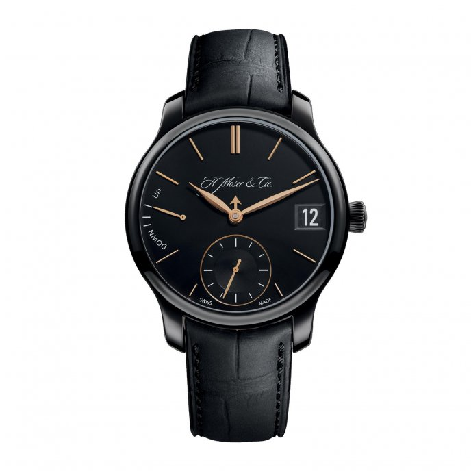 H. Moser & Cie Perpetual Calendar Black Edition 341.050.020 - watch face view