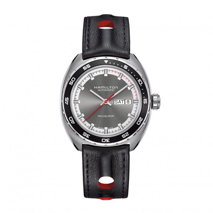 Hamilton Pan Europ h35405941 leather strap - watch face view