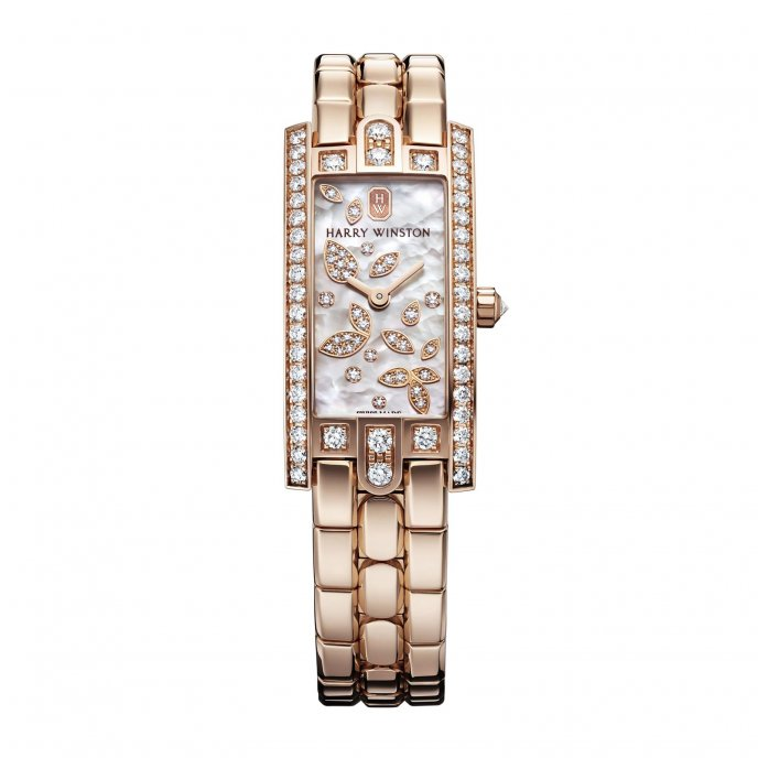 Harry Winston Avenue C Mini Lily CLuster Watch-face-view
