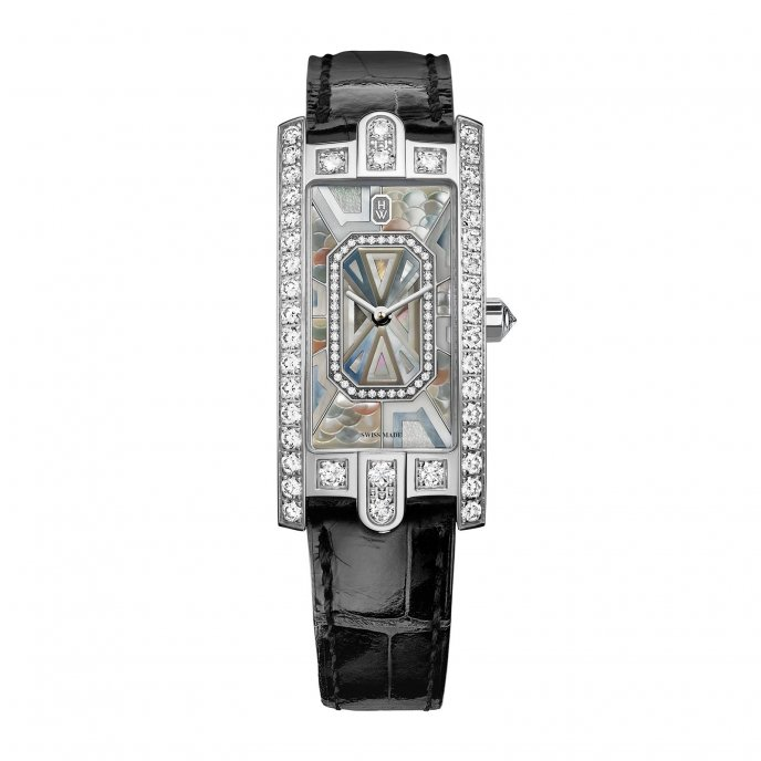 Harry Winston Avenue C Precious Marquetry Watch-face-view