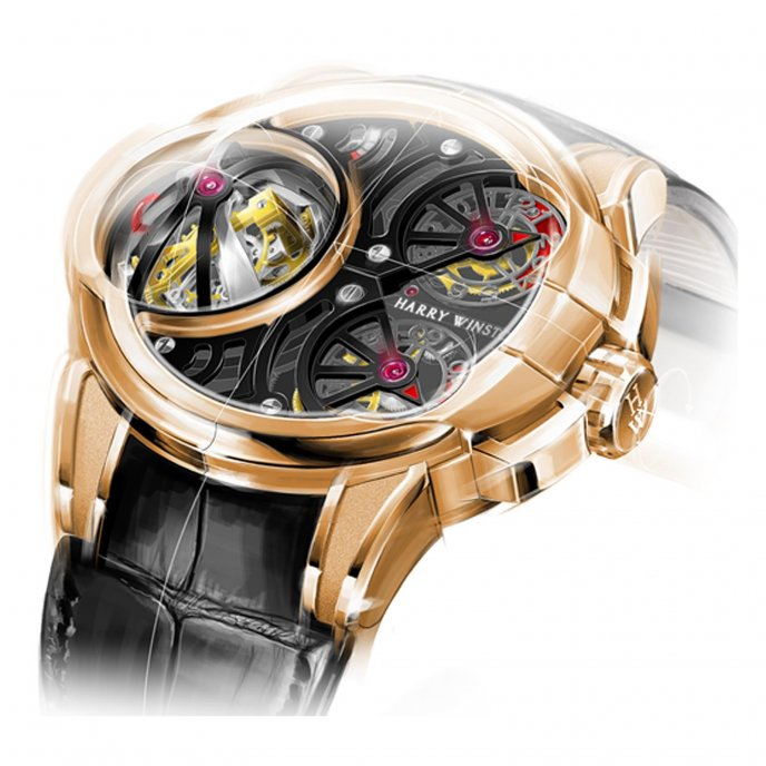 Harry Winston Histoire de Tourbillon 5 Watch-face-view
