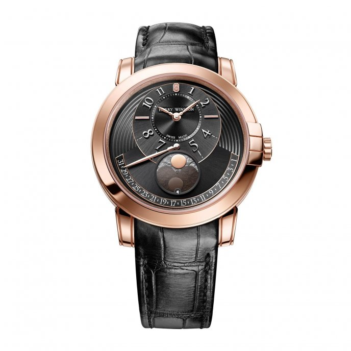 Harry Winston Midnight Moon Phase Watch-face-view