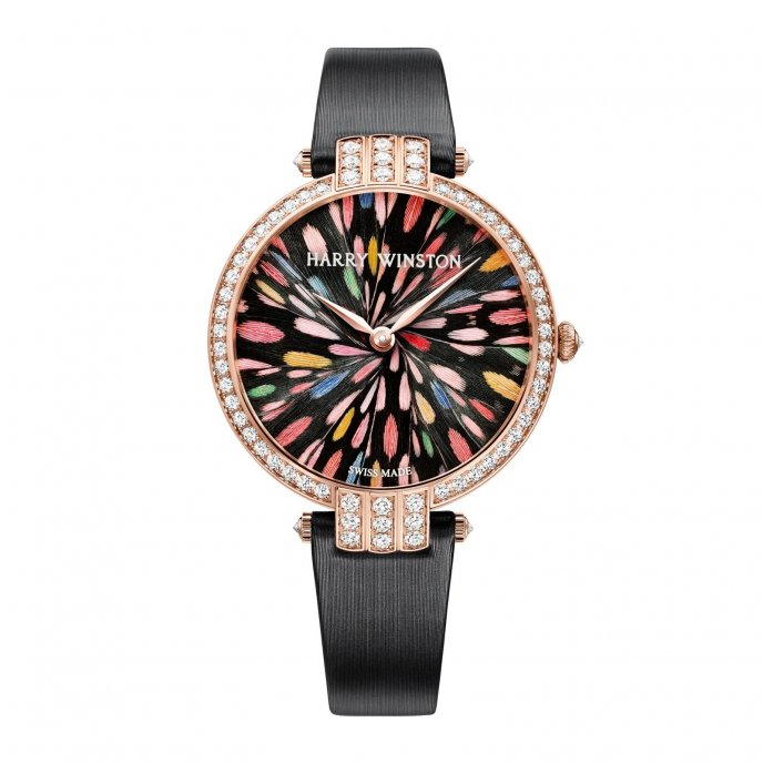 Harry Winston The Premier Collection Premier Feathers Limited Edition Geneva PRNQHM36RR007 - face view
