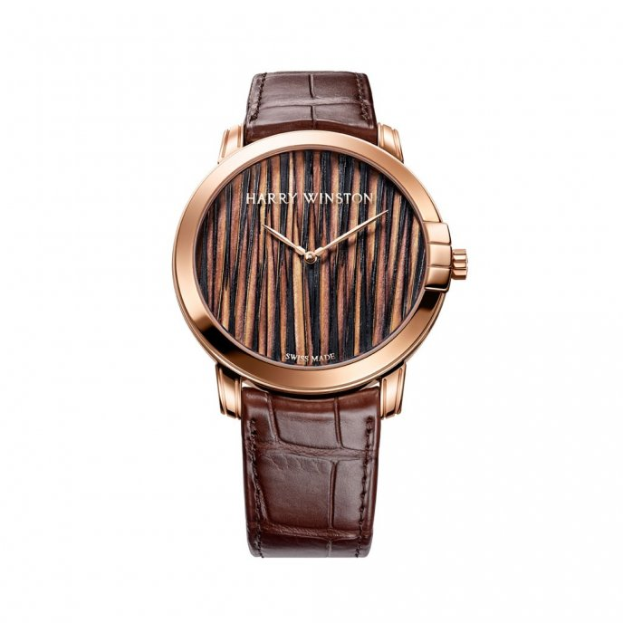 Harry Winston Midnight Collection Midnight Feathers Automatic 42mm watch face view