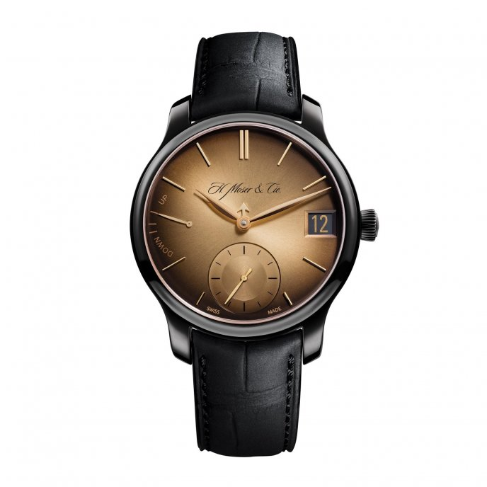H. Moser and Cie Endeavour Perpetual Calendar Black Golden Edition Watch-face-view