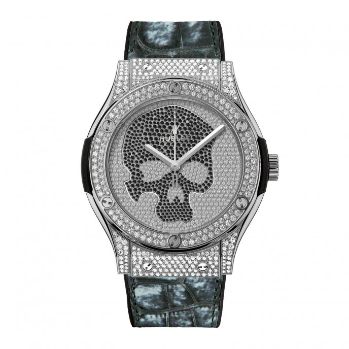 Hublot Classic Fusion Skull Pave 511.NX.9000.LR.1704.SKULL Watch-face-view