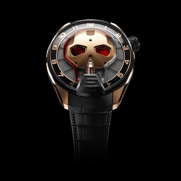 HYT H1 Skull 151-DG-42-RF-AB watch face view