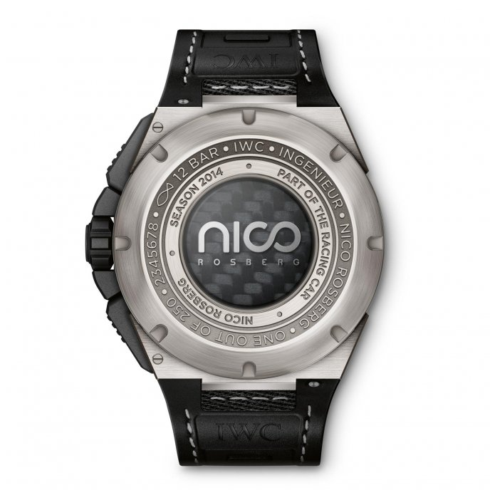 IWC Ingenieur Chronographe Edition Nico Rosberg watch-back-view