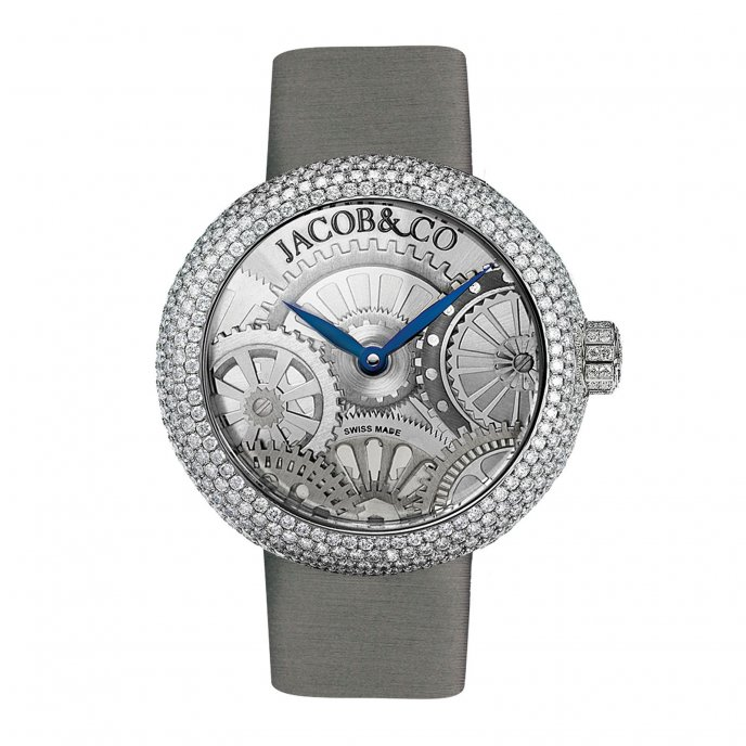 Jacob & Co. Brilliant Half Pave 210.030.10.RH.OX.3RD - watch face view