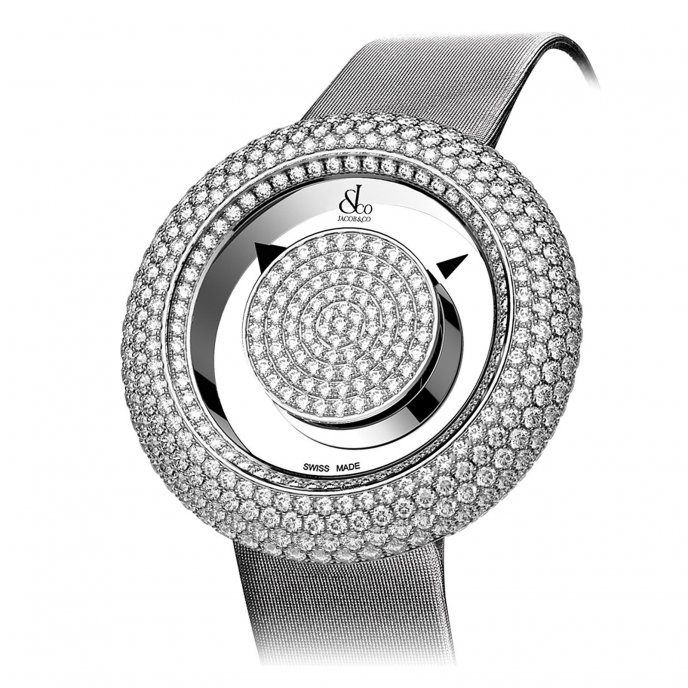 Jacob & Co. Brilliant Mystery Pave Diamonds 210.526.30.RD.RD.3RD - watch face view