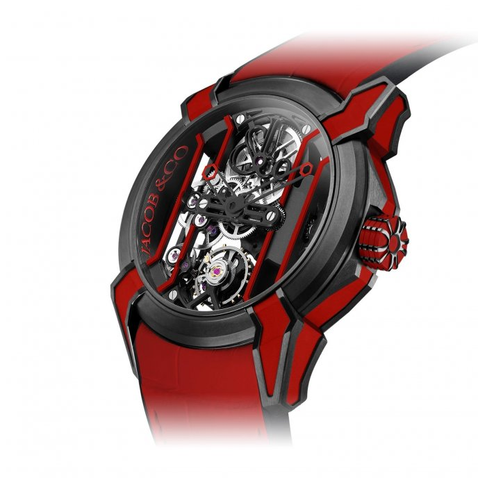 Jacob & Co Epic X Racing 550.100.21.RR.PY.4NS - watch face view