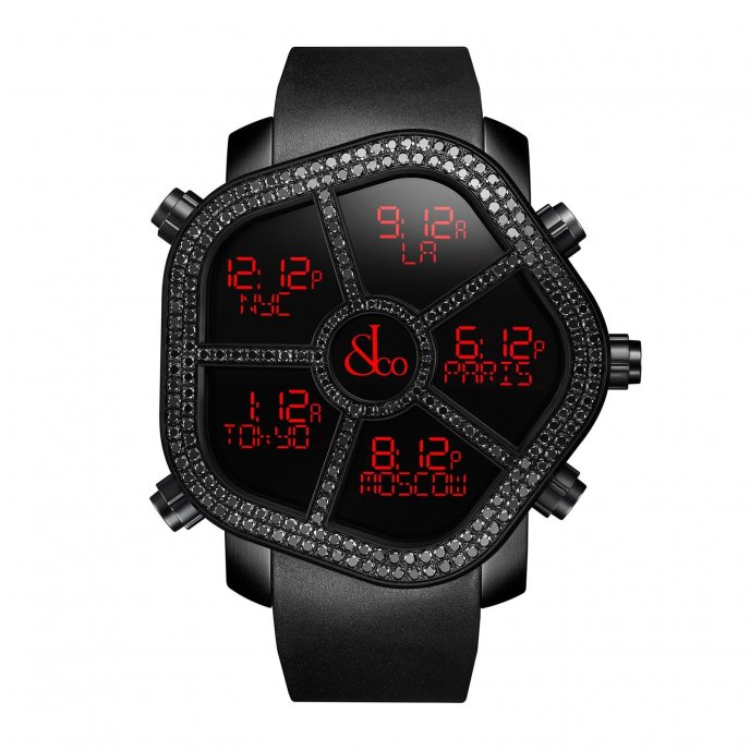 Jacob & Co. Ghost Black Dimaond bezels 300.100.11.SU.MB.4NS - watch face view