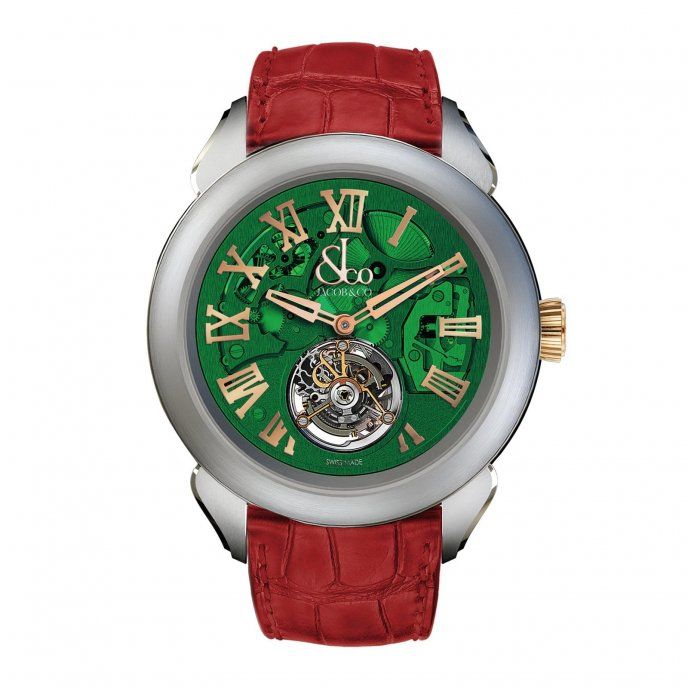 Jacob & Co. Palatial Tourbillon Hours & Minutes 150.520.24.NS.QG.1NS - watch face view