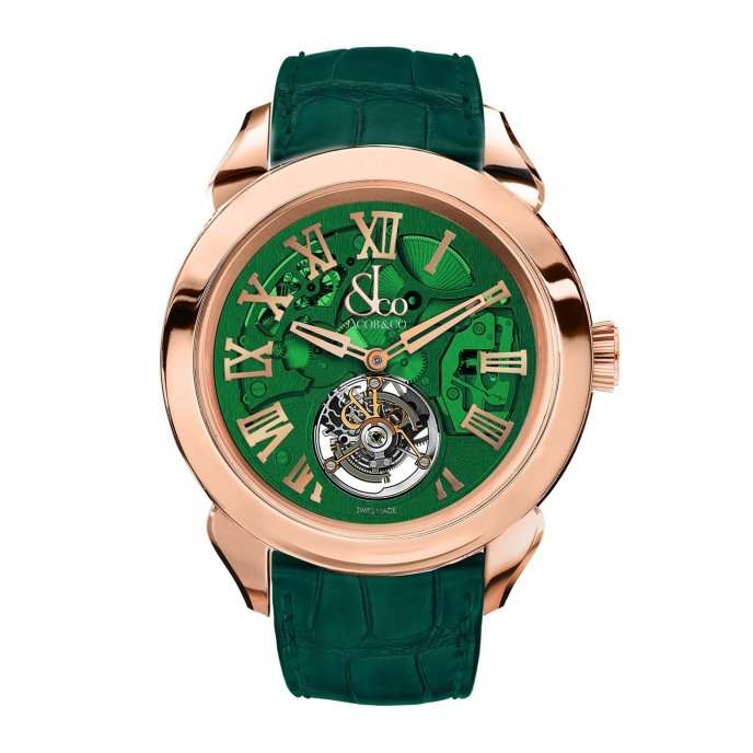 Jacob & Co. Palatial Tourbillon Hours & Minutes 150.520.40.NS.QG.1NS - watch face view