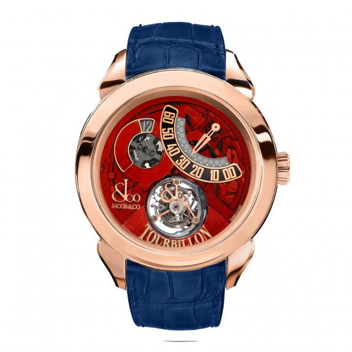 Jacob & Co. Palatial Tourbillon Jumping Hour 150.510.40.NS.PR.1NS - watch face view