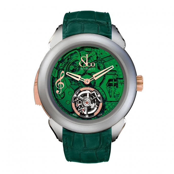 Jacob & Co Palatial Tourbillon Minute Repeater 150.500.24.NS.OG.1NS - watch face view
