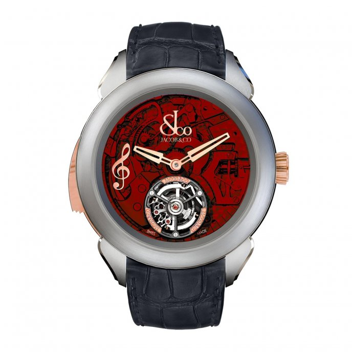 Jacob & Co Palatial Tourbillon Minute Repeater 150.500.24.NS.OR.1NS - watch face view