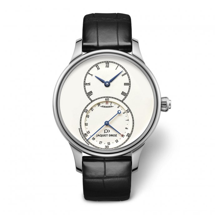 Jaquet Droz Grande Seconde Quantième Ivory Enamel J007014200 - watch face view
