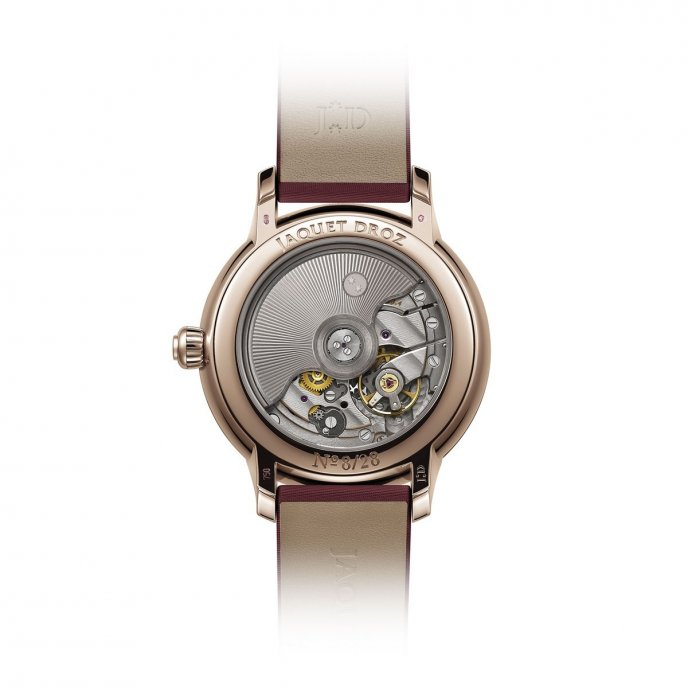 Jaquet Droz Petite Heure Minute 35 mm Ruby Heart J005003270 - watch back view
