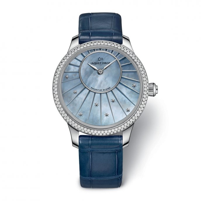 Jaquet Droz Petite Heure Minute 35 mm Mother-of-Pearl J005000270 - watch face view