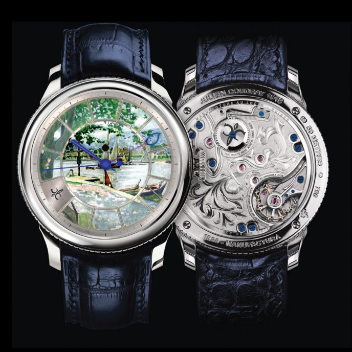 Julien Coudray 1528 Oeuvre Manufactura Collection Tableau d'Art Watch-face-view