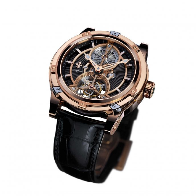 Louis Moinet Limited Edition Vertalor Rose GOld LM-35.50.55 - watch face view
