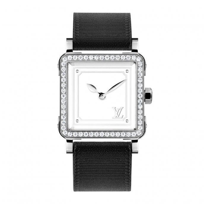 Louis Vuitton Emprise Steel and diamonds - watch face view