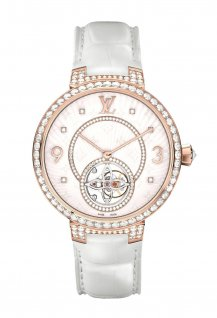 Monogram Tourbillon Pink gold and Diamonds