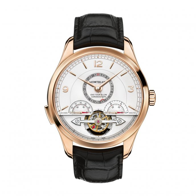 Montblanc Heritage Chronométrie ExoTourbillon Minute Chronograph 112542 watch face view