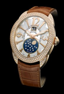 Regent 1609 AD - 4452 - Rose Gold - Three Rows of Diamonds