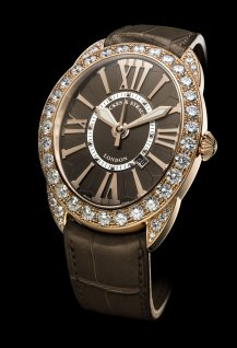 Regent 4452 Rose Gold - Chocolate Dial - One Row