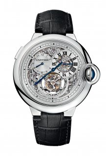 Tourbillon with double jumping second time zone watch