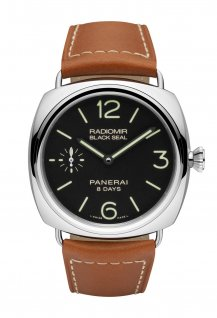 PAM00609 - Black Seal 8 Days Acciaio - 45mm