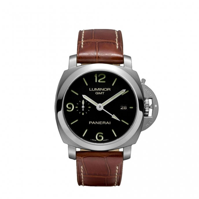 Panerai Luminor 1950 3 Days GMT Automatic Acciaio PAM00320 - watch face view
