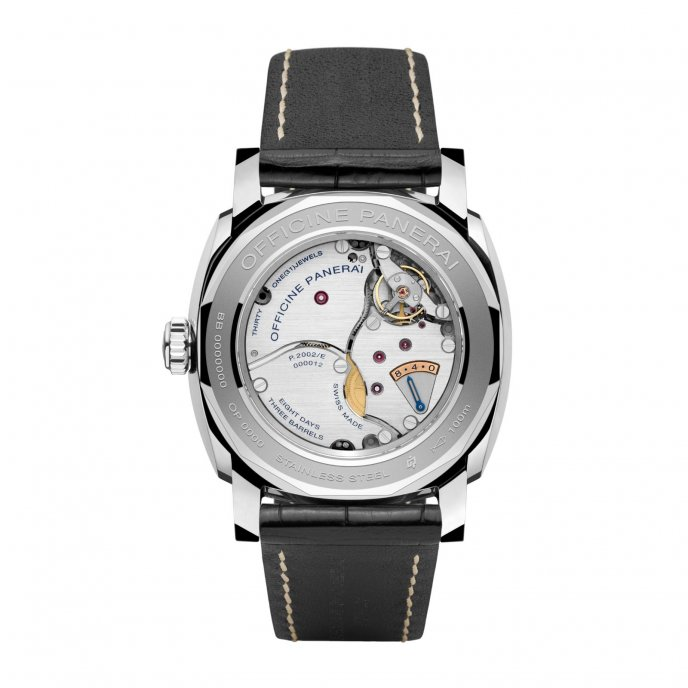 Panerai Radiomir 1940 Equation of Time 8 Days Acciaio 48 mm watch back view