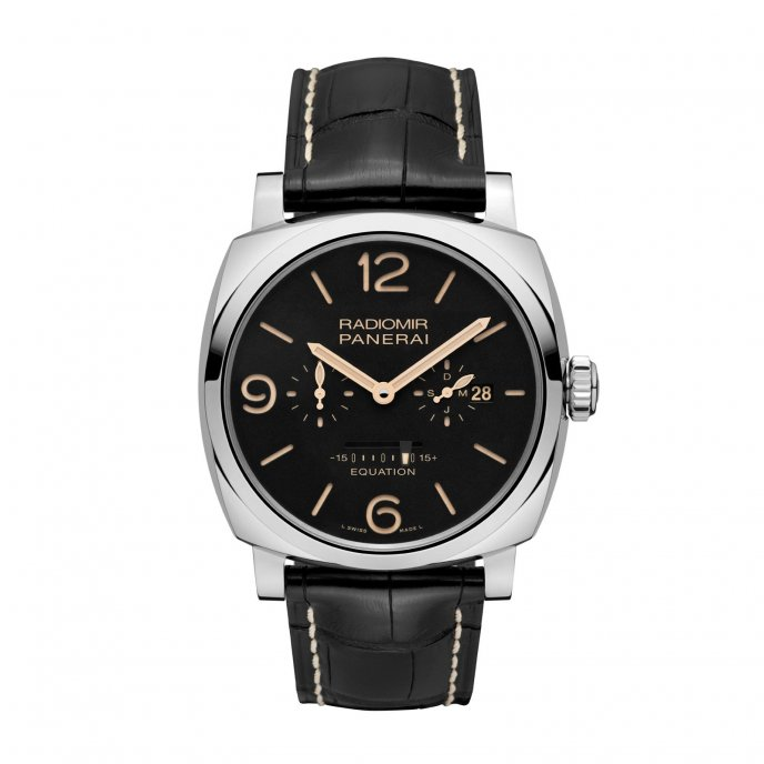 Panerai Radiomir 1940 Equation of Time 8 Days Acciaio 48 mm watch face view
