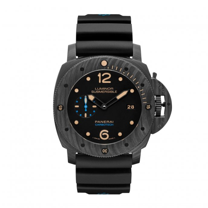 Panerai Luminor Submersible 1950 Carbotech™ 3 Days Automatic - 47 mm PAM00616 watch face view