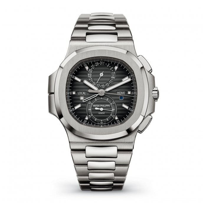 Patek Philippe Nautilus Travel Time Chronograph Watch-face-view
