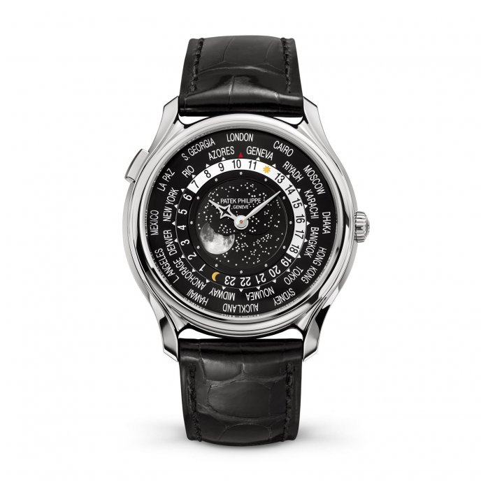 Patek Phillipe World Time Moon 5575 watch face view