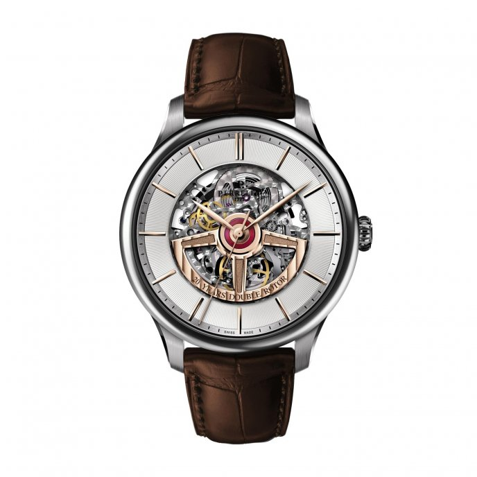 Perrelet First Class Double Rotor Skeleton Double Rotor 20th Anniversary Model A3052/1 Watch Face View