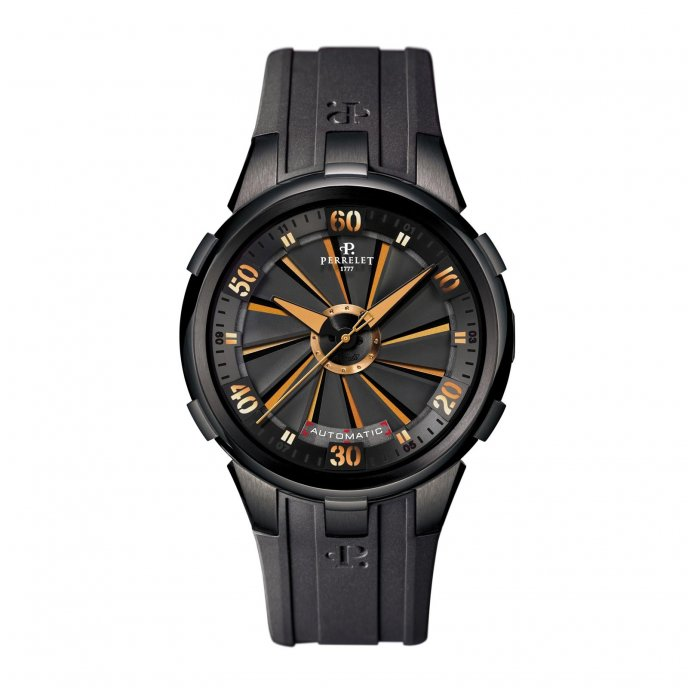 Perrelet Turbine XL Vegas Orange Watch-face-view